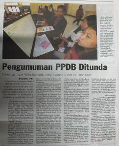 PPDB ditunda